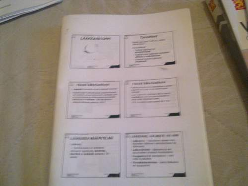FDF Medic training papers and such