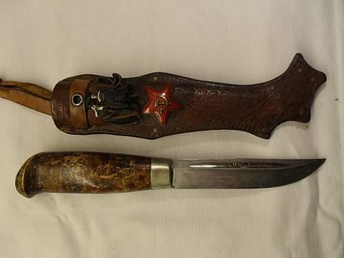 Finnish knife + red star