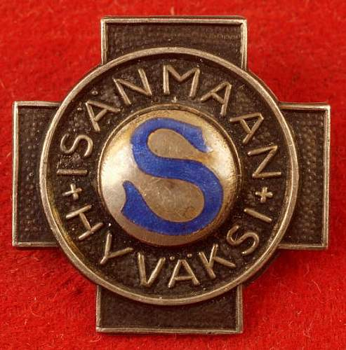 Click image for larger version.  Name:Finnish Civil Guard badge front.jpg Views:257 Size:50.9 KB ID:345570