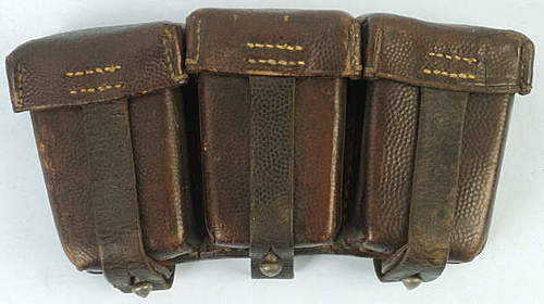 Click image for larger version.  Name:German 1916 3 pocket ammo pouch.jpg Views:266 Size:23.2 KB ID:396366
