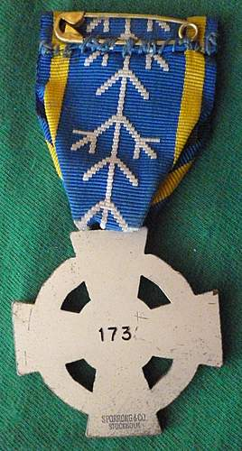 Click image for larger version.  Name:my Commemorative Medal for Swedish Volunteers in the Winter War and Continuation War back.jpg Views:568 Size:241.2 KB ID:396829