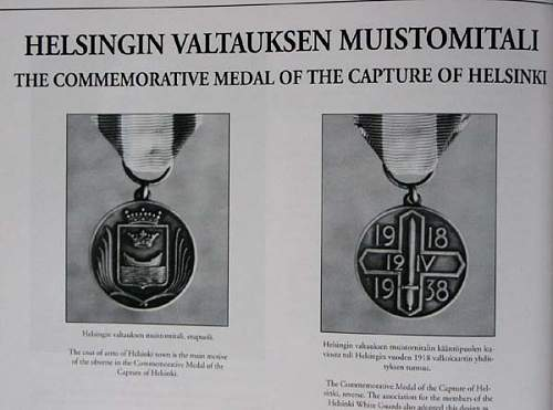Commemorative Medal of the Capture (Liberation) of Helsinki