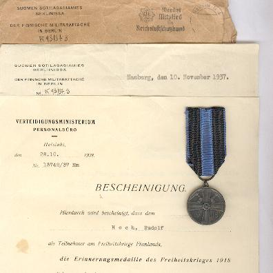 Name:  Finnish 1918 Commemorative Medal for the War of Liberation medal and document.jpg