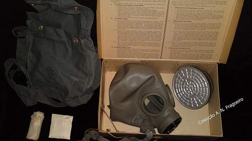 Finnish Gas mask and contents