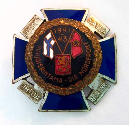 'The Commemorative Northern Cross and Petsamo-Rovaniemi Abzeichen'
