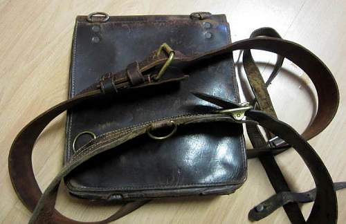 Finnish winter war mapcase and belts propably  to the same officer