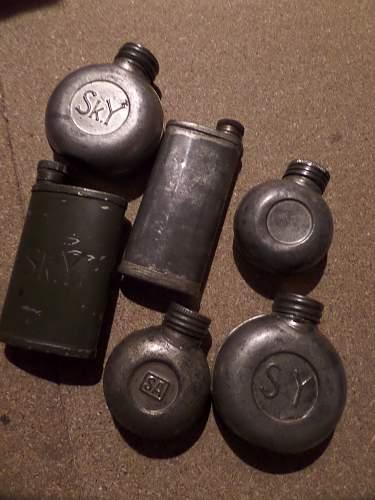 Finnish army ww2 oil bottles