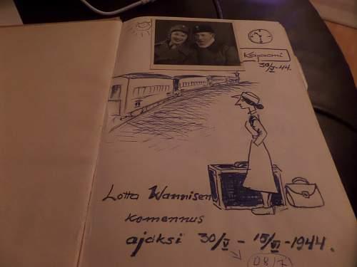Finnish ww2 Lotta note book
