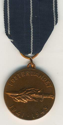 continuation war medal Swedish