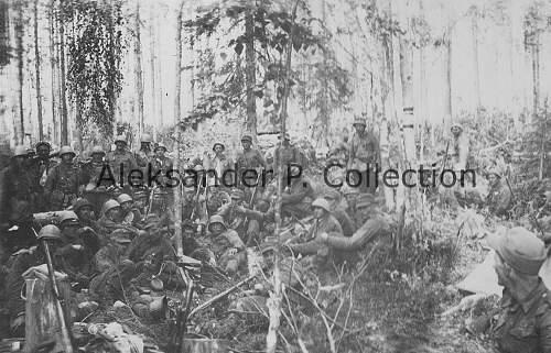 Click image for larger version.  Name:Komppanian yhteiskuva Kiestingissä, 1942..jpg Views:41 Size:284.0 KB ID:659766