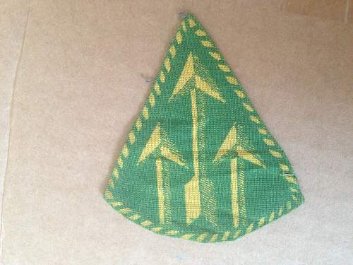 Finnish Armoured Division Sleeve Insignia and  Supply troops M/39 summercap