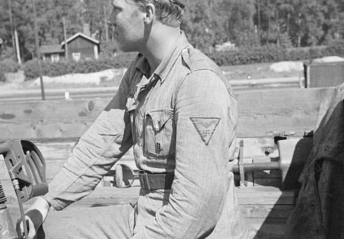 WW2 Finnish army un-official unit cloth insignia