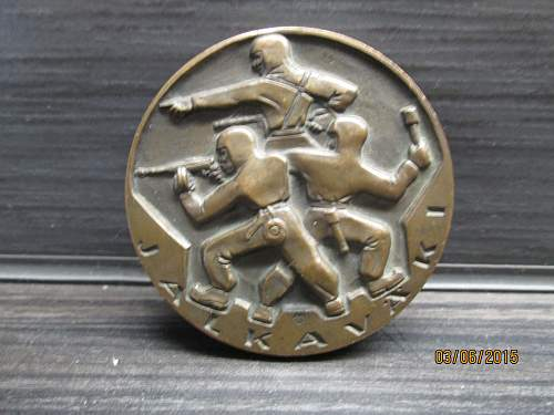 Nice infantry table medal