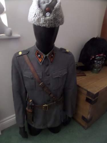 New Finnish uniform pick up