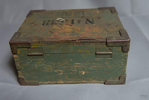 Finnish army wooden boxes