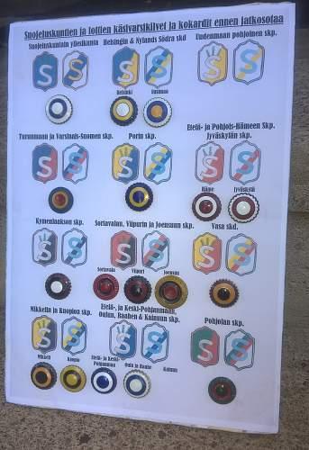 Civilguard arm badge's straight flush