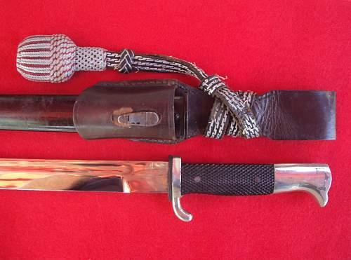 Feuerschutz Poleizi-Used Dress Bayonet?