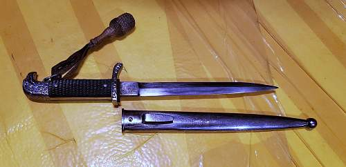 A very uncommon dress dagger. Special Type?