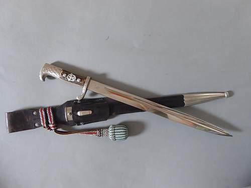 Weyersberg Schupo Berlin shortened Polizei bayonet