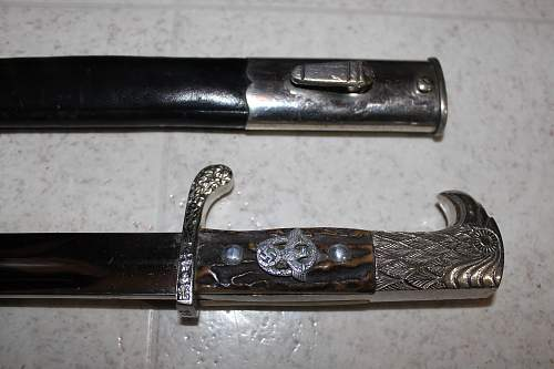 Real or fake POLICE DRESS BAYONET DAGGER EARLY EICKHORN