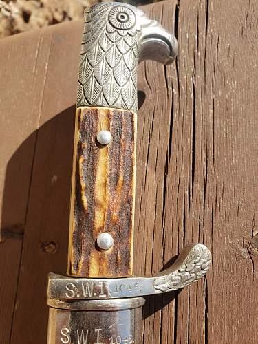 Verification of paul weyersberg police bayonet