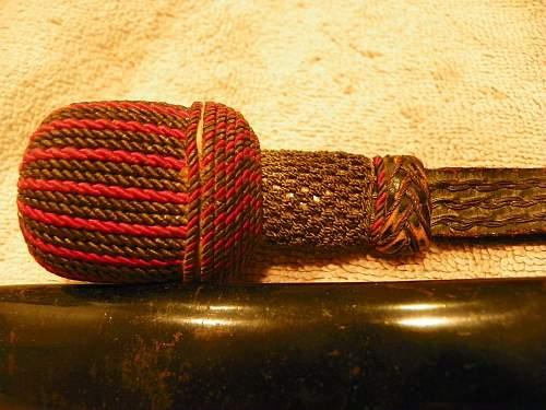 Firemans dagger & portepee- knot