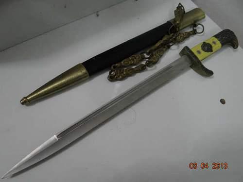 WW2 police dress bayonet  real or fake?