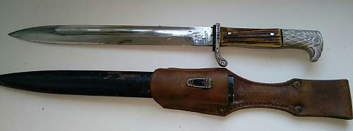 Police short bayonet E. Pack - ask for help