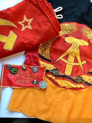 Soviet and East German Flag