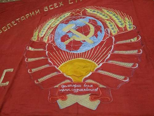 Wartime banner in time for May Day