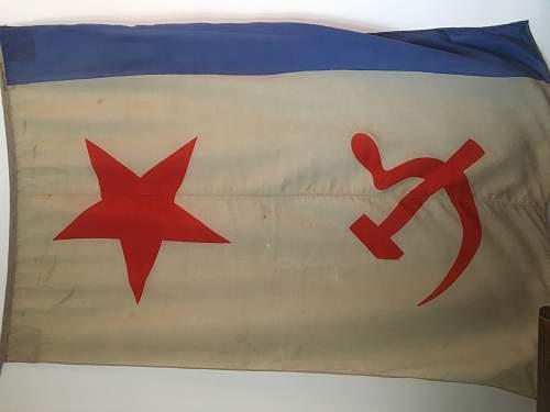 Soviet Naval Flag - Vozrohdeniya Island?