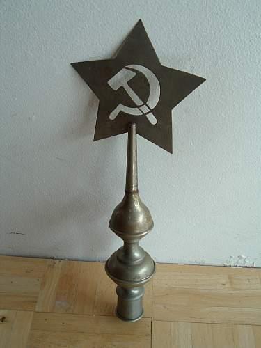 Soviet Flag Pole Top