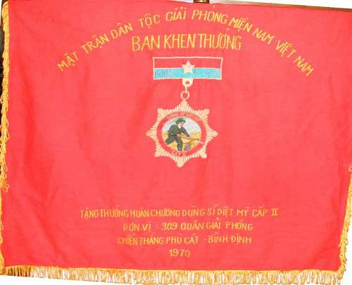 2 vietnamese wall hangings / not flags