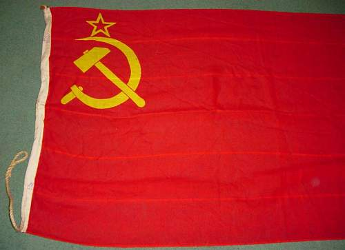 A Soviet flag with a difference.