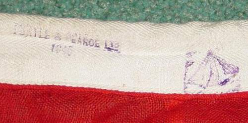 Click image for larger version.  Name:Soviet flag with WD and maker markings..JPG Views:150 Size:28.6 KB ID:2933