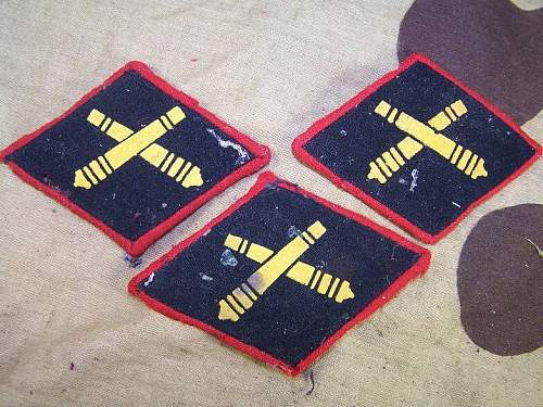 M 35 insignia, collar tabs, anti tank artillery patches. just recieved