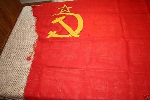 Soviet flag captured in 1941