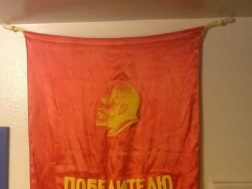 Soviet Lenin banner