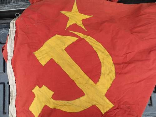 Offered this Soviet Flag