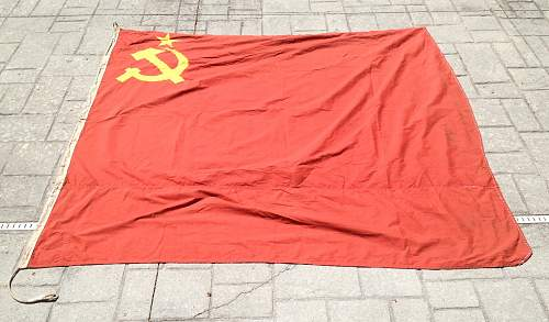 Offered this Soviet Flag