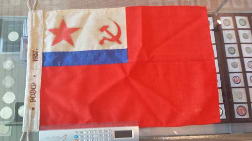 1937 Soviet Union Deputy Commissar of the Navy Flag