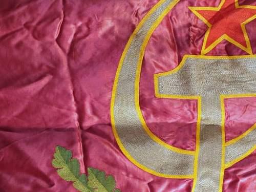 Soviet Latvia Banner