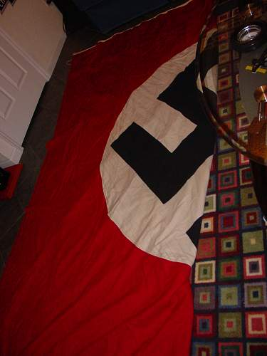 WW2 German 15ft by 15ft NSDAP flag banner