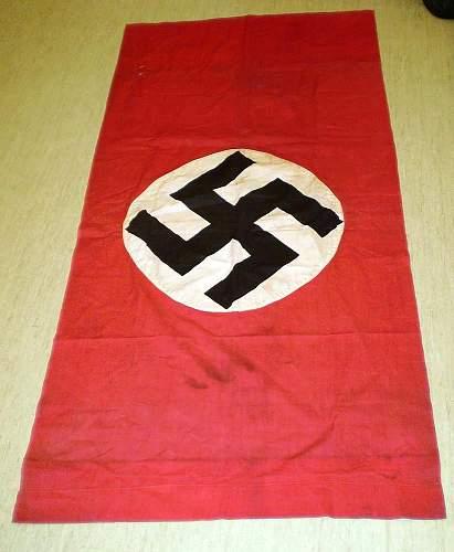 REAL? Nazi flag/banner from Jutland, Denmark