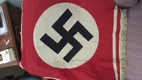 German podium banner