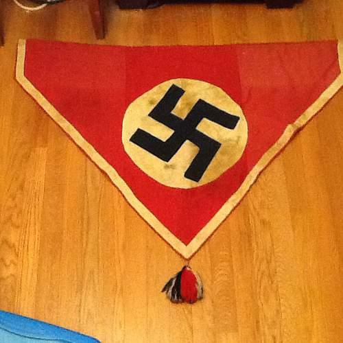 Strange Nazi Pennant with tassel