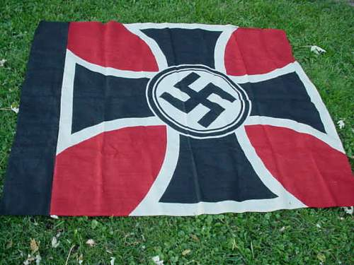 Extremely large ww2 german State service flag,info needed