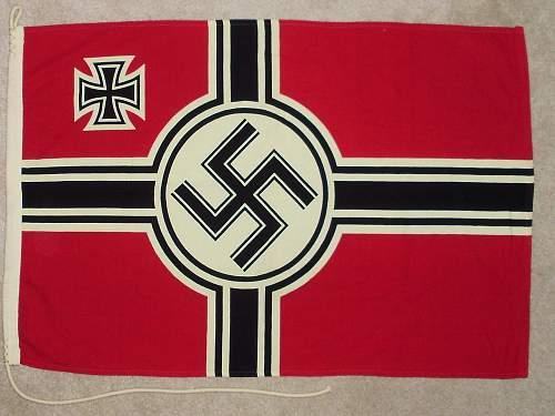 Kriegsmarine (Reichskriegsfahne) Flag...