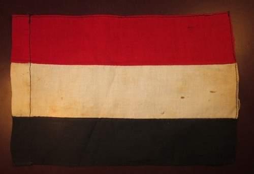 Authentic Items?: NSDAP Badges & Tri-Color Pennent/Flag