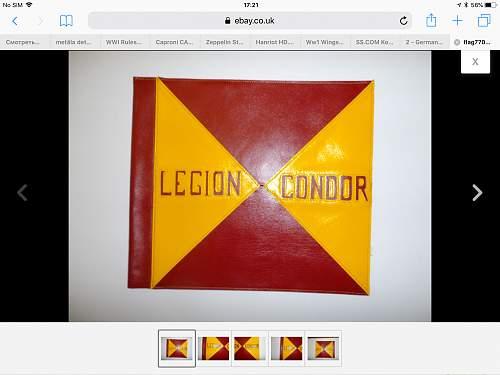 FAKE condor legion car pennant for sale on eBay